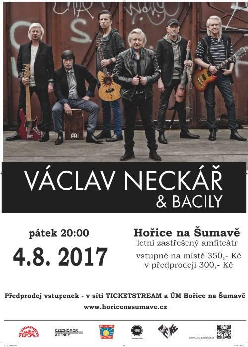 Václav Neckář & Bacily Koncert | 4.8.2017 Letní zastřešený amfiteátr Hořice na Šumavě Hořice na ...
